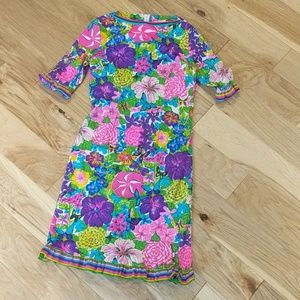 Authentic Vintage Floral Hippie Dress Size 12